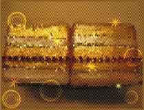 Weihnachtsgoldhintergrund mit Sternen Lizenzfreie Stockbilder