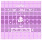 Weihnachtsgrüße auf abstraktem geometrischem Hintergrund Stockfotos