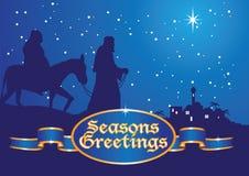 Weihnachtsgrüße Mary und Joseph Stockfotos