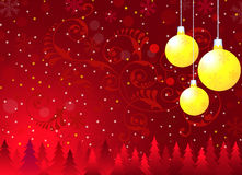 Weihnachtsgrüße - Vektor Lizenzfreies Stockbild