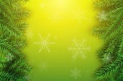 Weihnachtsgrüner Hintergrund Vektor Abbildung