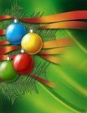 Weihnachtsgrüner Hintergrund Lizenzfreies Stockbild