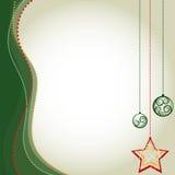 Weihnachtsgrüner Hintergrund - Vektor-Illustration - Illustration Stockbild