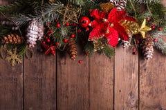 Weihnachtsgrenzauslegung Lizenzfreies Stockbild