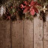 Weihnachtsgrenzdesign Stockbilder