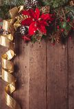 Weihnachtsgrenzdesign Stockfoto