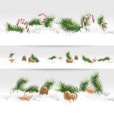 Weihnachtsgrenzen lizenzfreie abbildung
