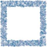 Weihnachtsgrenzhintergrund mit blauen Schneeflocken Lizenzfreie Stockfotos
