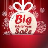 Weihnachtsgroße Verkaufsschablone. + EPS10 Stockfotografie