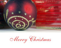 Weihnachtsgruß stockfotografie