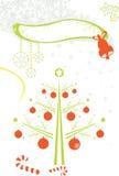 Weihnachtsgruß-Karte Stockbild