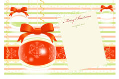 Weihnachtsgruß-Karte Stockfoto