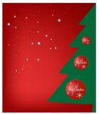Weihnachtsgruß-Karte. Lizenzfreies Stockfoto
