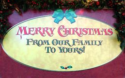 Weihnachtsgruß-Zeichen Lizenzfreies Stockbild