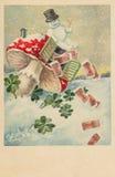 Weihnachtsgrußkarte Stockfoto