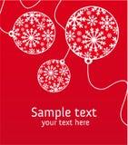 Weihnachtsgrußkarte Stockbild