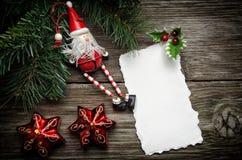 Weihnachtsgrußkarte Stockfotografie