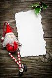 Weihnachtsgrußkarte Lizenzfreie Stockfotografie