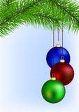 Weihnachtsgrußkarte stock abbildung