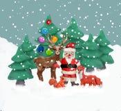 Weihnachtsgrußkarte der Knetmasse-3D Stockbilder