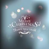 Weihnachtsgrußkarte - Feiertagsbeschriften Lizenzfreie Stockbilder