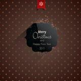 Weihnachtsgrußkarte - Feiertagsbeschriften Stockfotos