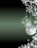 Weihnachtsgrußkarte mit dekorativem blueorname Stockbilder