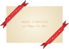 Weihnachtsgrußkarte mit Farbbändern Lizenzfreies Stockbild