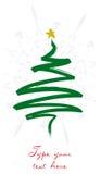 Weihnachtsgrußkarte mit vertikalem Baum Stockbilder