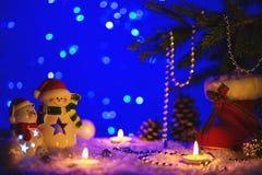 Weihnachtsgrußkarte mit Weihnachtszahlen Lizenzfreie Stockbilder