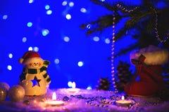 Weihnachtsgrußkarte mit Weihnachtszahlen Stockbild