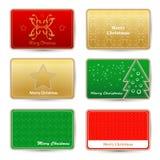 Weihnachtsgrußkarten Lizenzfreies Stockbild