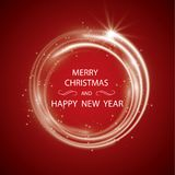 Weihnachtsgrußkarten-Lichtvektorhintergrund Feiertage der frohen Weihnachten wünschen Design und Weinleseverzierungsdekoration vektor abbildung