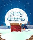 Weihnachtsgrußkartenillustration Stockfoto