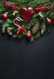 Weihnachtsgrußkartenschablone Lizenzfreie Stockfotografie