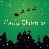Weihnachtsgrußpostkarte Stockbild