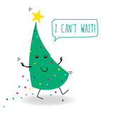 Weihnachtsgrußpostkarte Lizenzfreies Stockbild