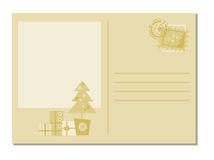 Weihnachtsgruß-Karte Stockfotos