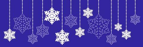 Weihnachtshängende Schneeflocke stock abbildung