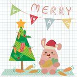 Weihnachtshäschen vektor abbildung