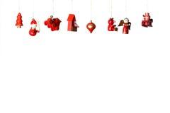 Weihnachtshölzerne Spielwarendekorationen Lizenzfreies Stockfoto