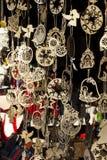 Weihnachtshölzerner Dekor an der Messe, Lemberg, Ukraine Stockfotos
