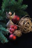 Weihnachtshölzerner Engel Lizenzfreie Stockbilder