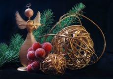 Weihnachtshölzerner Engel Lizenzfreie Stockfotos
