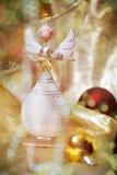 Weihnachtshölzerner Engel Stockfotografie