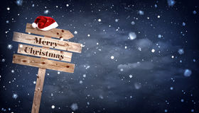 Weihnachtshölzernes Brett Lizenzfreies Stockfoto