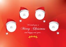 Weihnachtshüte Stockfotos