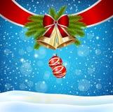 Weihnachtshand gezeichneter Bogen Lizenzfreie Stockbilder