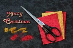 Weihnachtshandwerk Lizenzfreie Stockfotografie