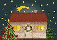 Weihnachtshaus stockbilder